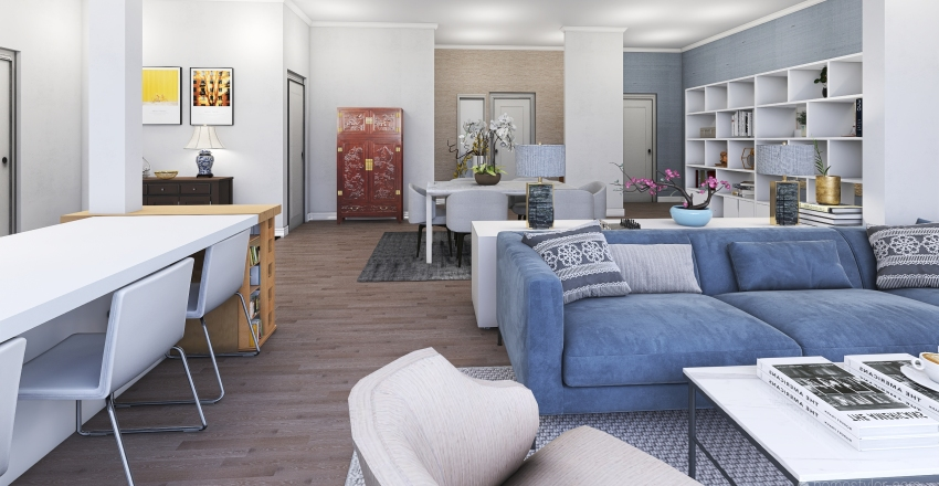 Guildford open plan Interior Design Render