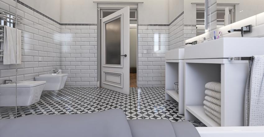 Rehabilitación de vivienda en edificio antiguo Interior Design Render