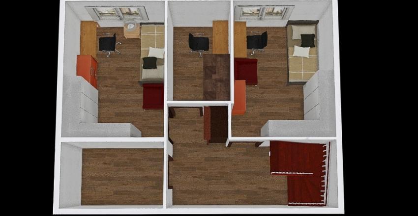P2 - biuro po srodku Interior Design Render