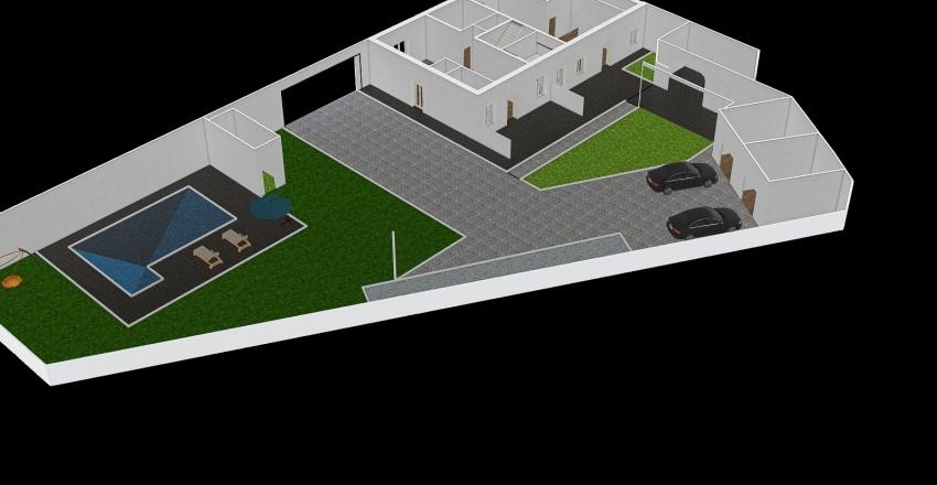 Cesano Stazione PT ( Con Esterno ) Interior Design Render