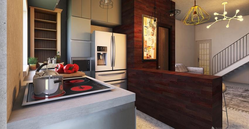 cozinha adriana Interior Design Render