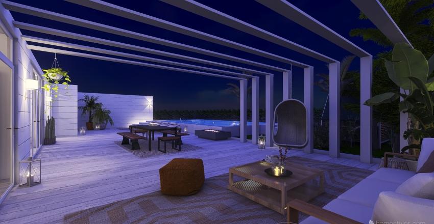 "#HSDA2020Residential ""Isola - Beach House"" Interior Design Render"