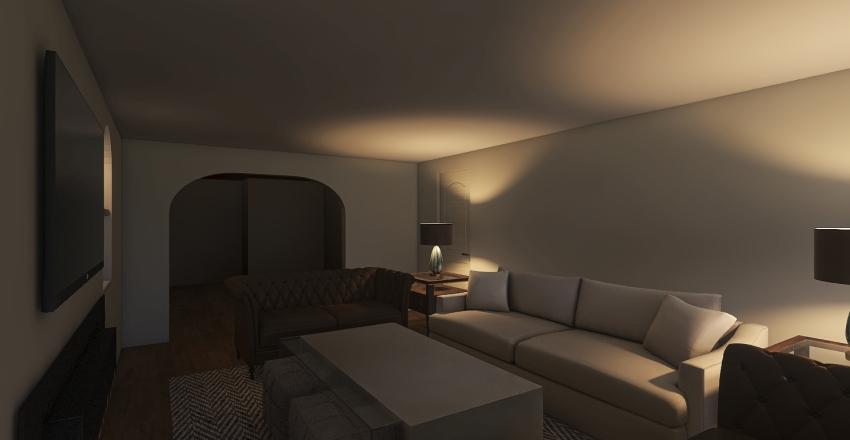 Bell - Basement  Interior Design Render