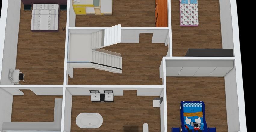 domek_pietro Interior Design Render