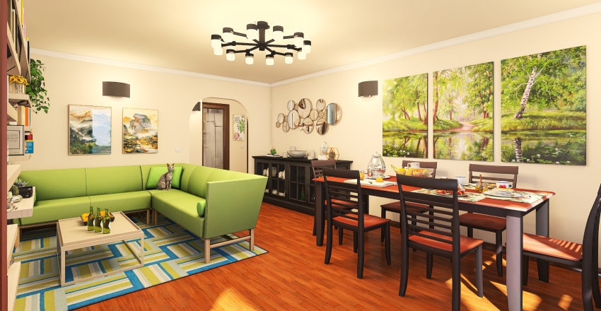 Real old flat reborn Interior Design Render