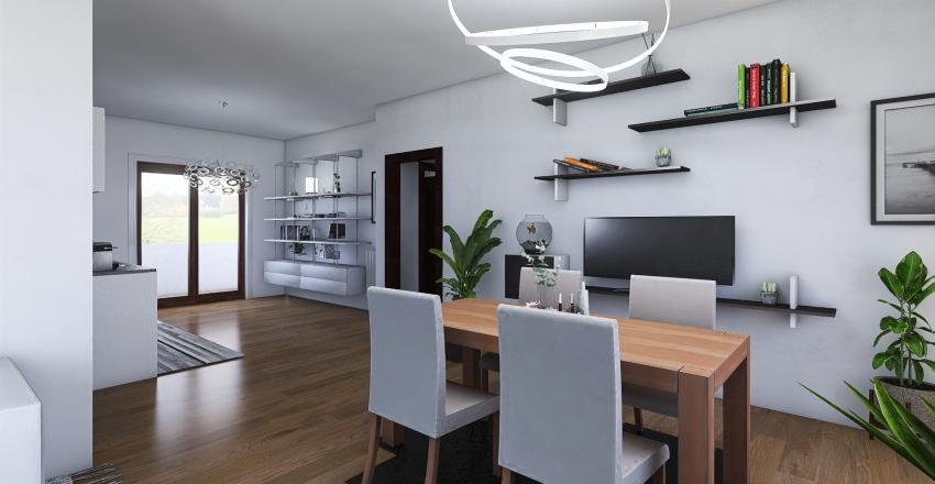 Via Astino 27 Bergamo 2p Interior Design Render
