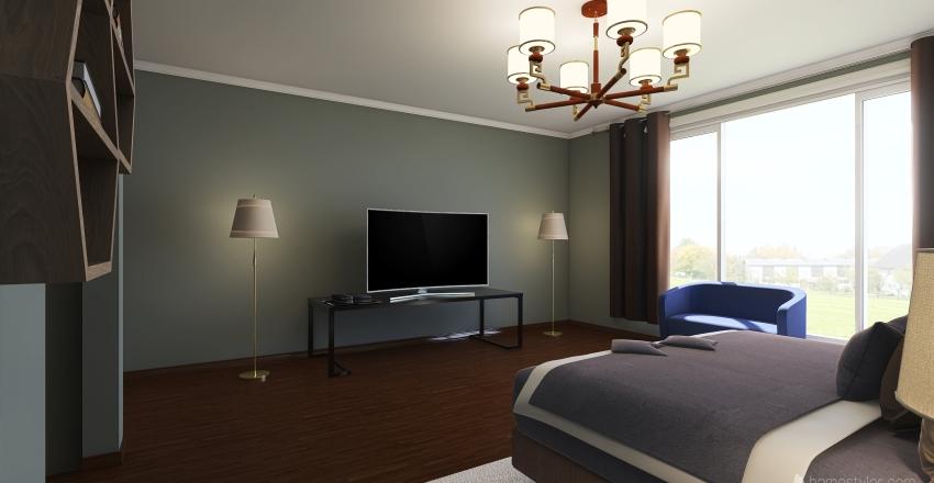 Habitación Simple Interior Design Render