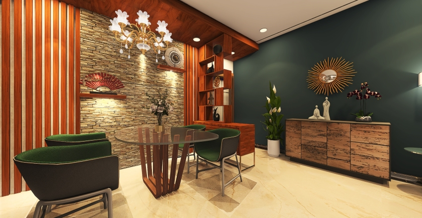 3bhk Interior Design Render