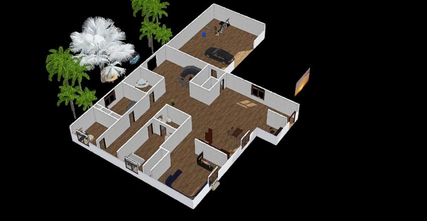 The modern sister Interior Design Render