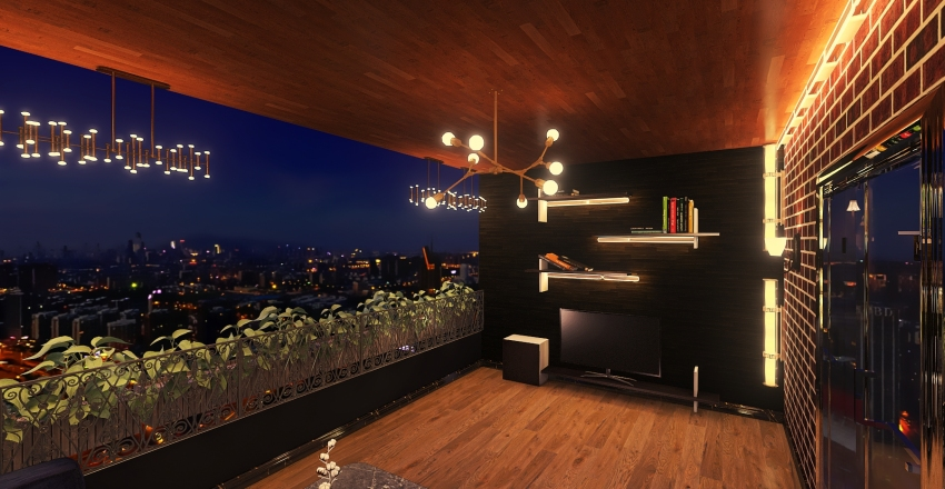 Roof Interior Design Render