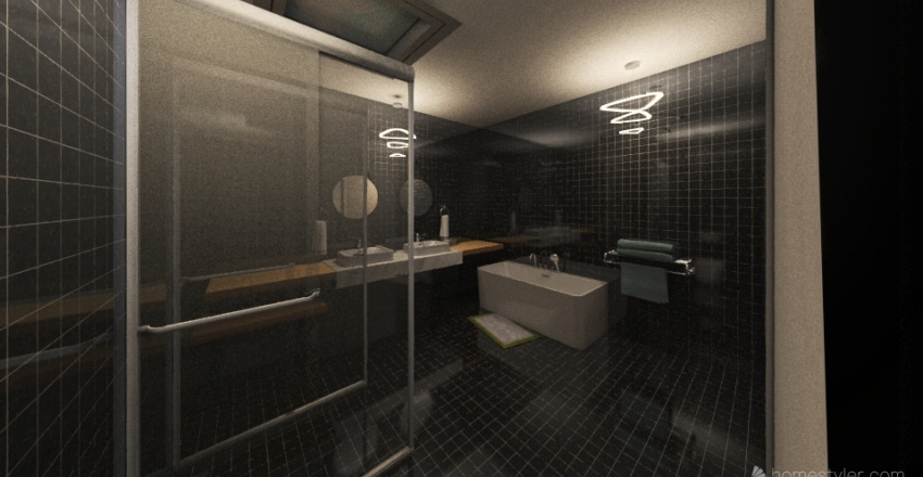 Bathroom Interior Design Render