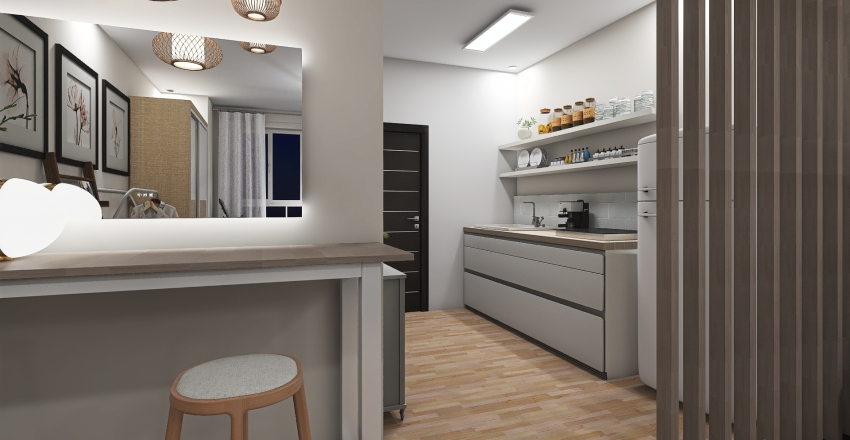 kdrama studio type Interior Design Render