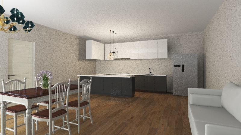 kitchen;cucina Interior Design Render