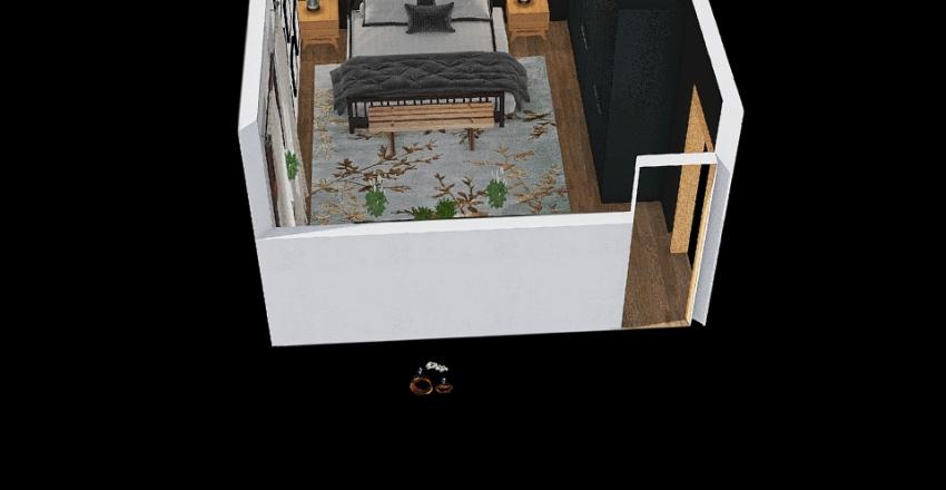 Sypialnia wersja ciemna Interior Design Render