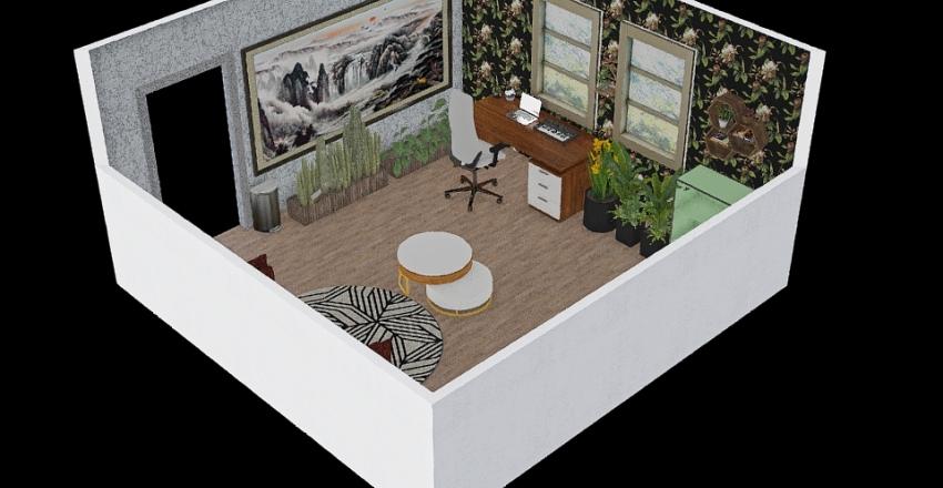 Biophilic Zone Interior Design Render