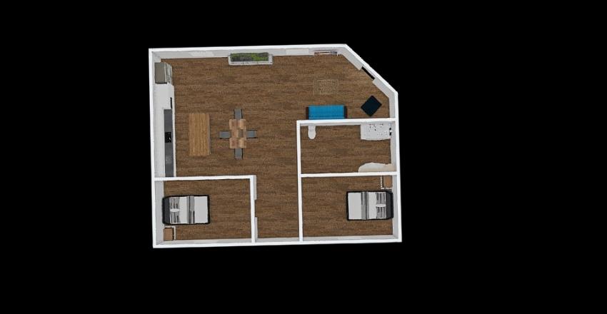 Apartment floor plan Interior Design Render