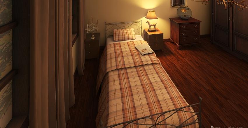 vintage bedroom  Interior Design Render