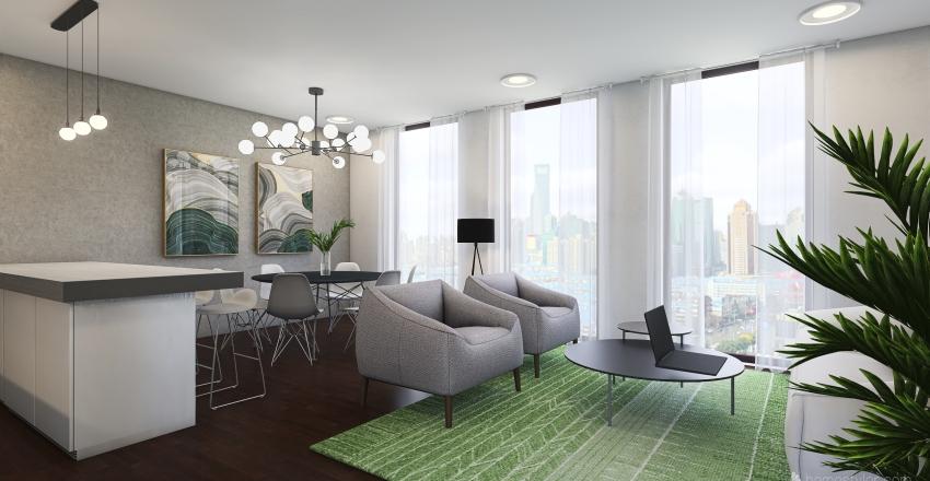Caltia departamentos. TIPO III Interior Design Render