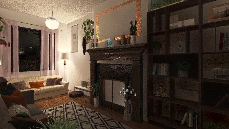Beata Living Room Interior Design Render