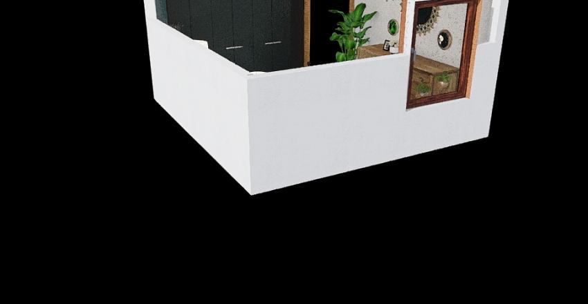 Sypialnia ciemna wymiary Interior Design Render