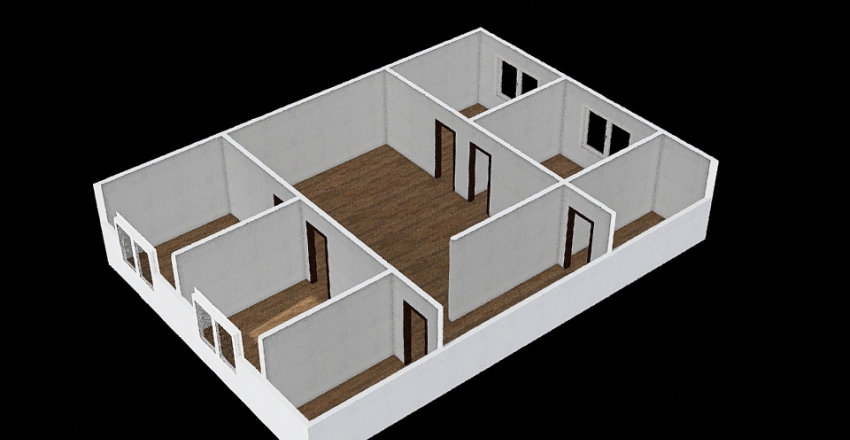 Casa Simples - 2º Projeto colorido Interior Design Render