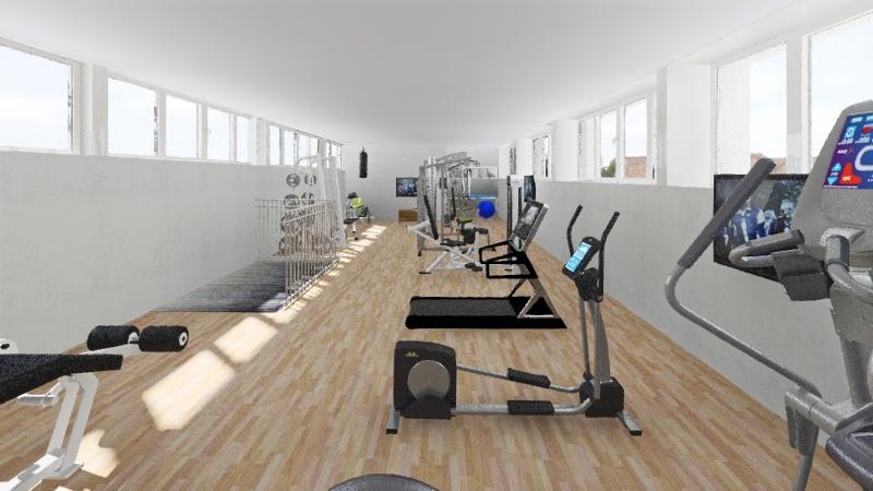 RINCON GYM 01 Interior Design Render