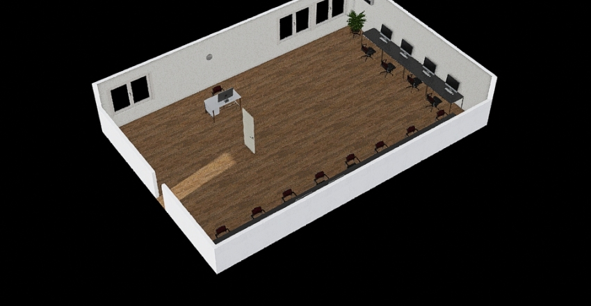 school Interior Design Render