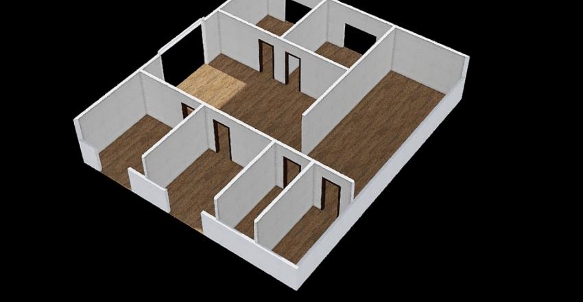Casa Simples - 1º projeto colorido  Interior Design Render
