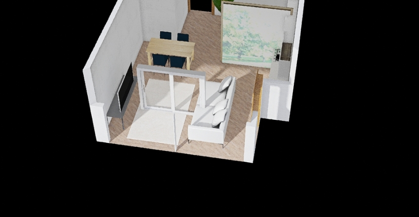 Sala Frenkone Interior Design Render