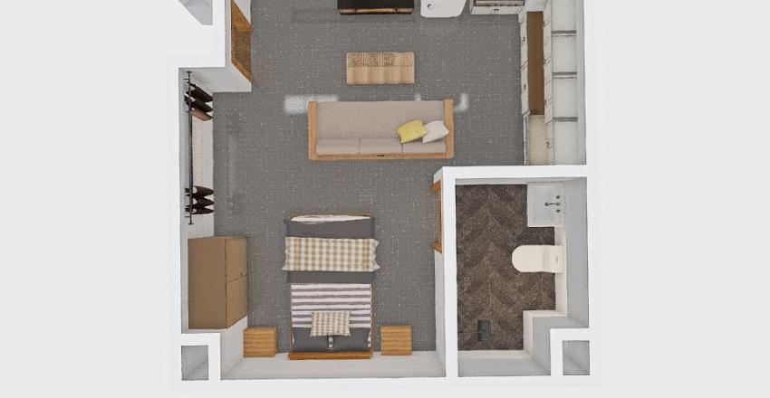 South B Caretaker bedsitter Interior Design Render