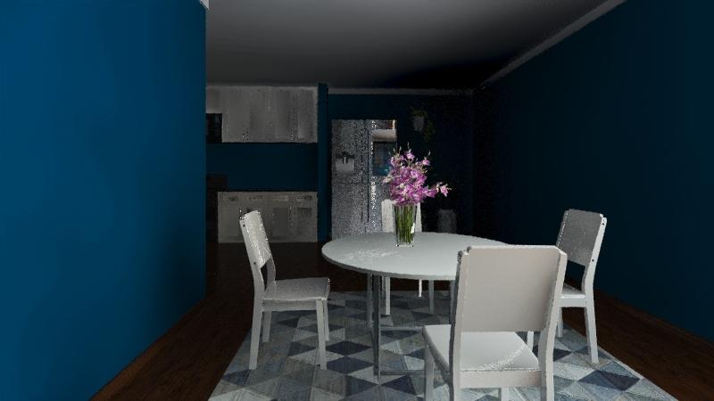1 bedroom 1 bathroom aestethic apartment Interior Design Render