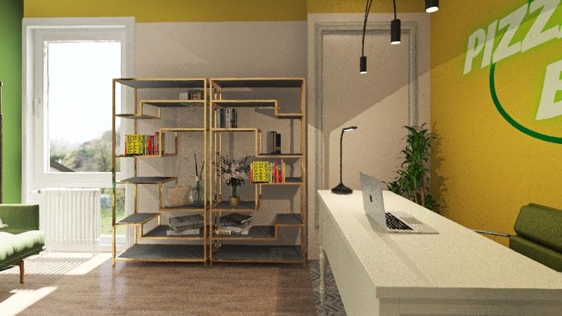 PIZZA BOOM Interior Design Render