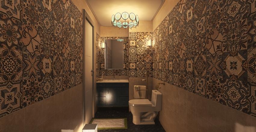 villa 002 (kitchen and wc) Interior Design Render