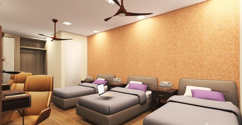 hostel Interior Design Render