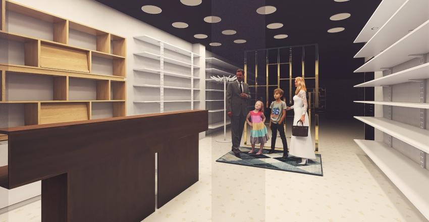 ad fashion mart Interior Design Render