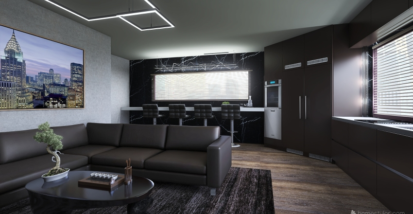 Manly apartment Interior Design Render