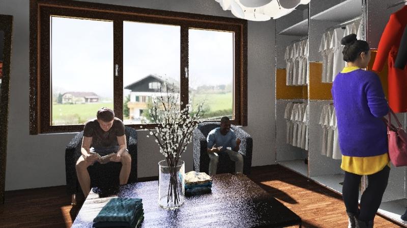 Retail Store Project Interior Design Render