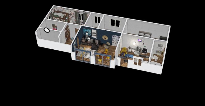 design version with living room from october 7 Interior Design Render