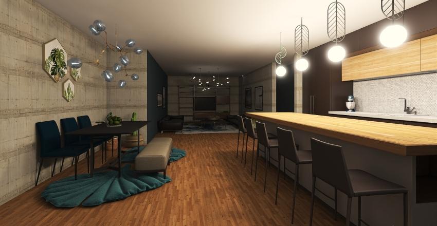 LITAL BLUE Interior Design Render