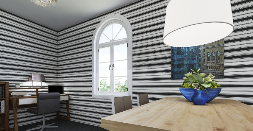 Lux Cabin Interior Design Render