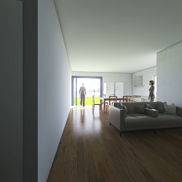Casa pai 02 quartos Interior Design Render