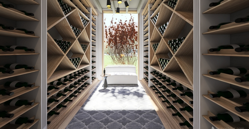 Summer House Interior Design Render