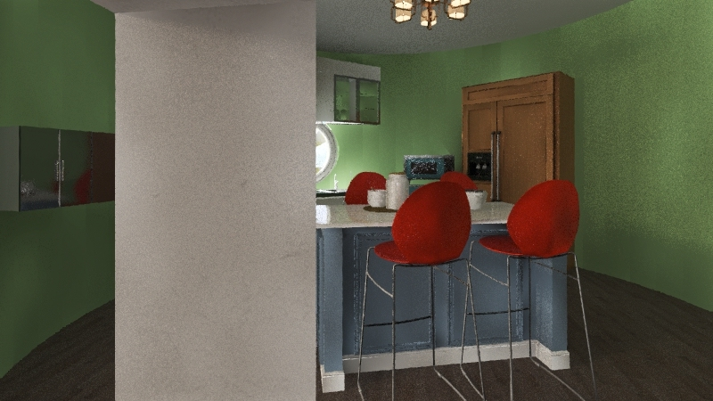 the little country home   Interior Design Render