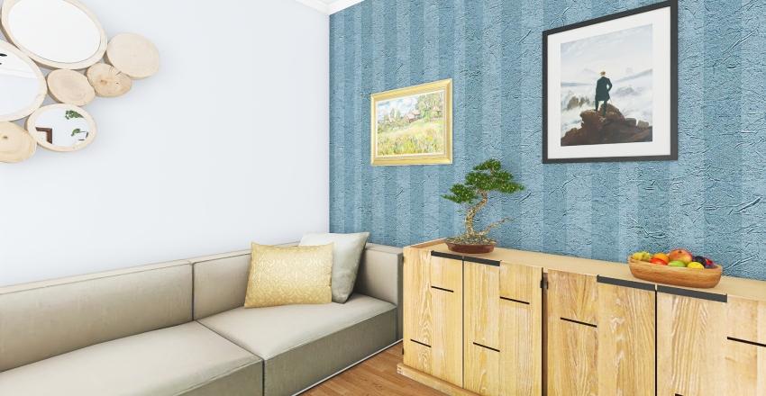 Гостиная-кабинет Interior Design Render