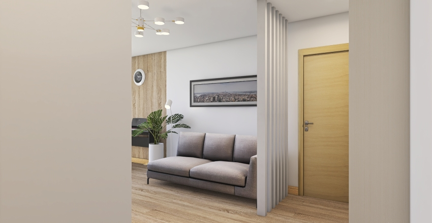 Диляра 3 вариант стекл перегородка Interior Design Render