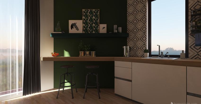 Earthy home Interior Design Render
