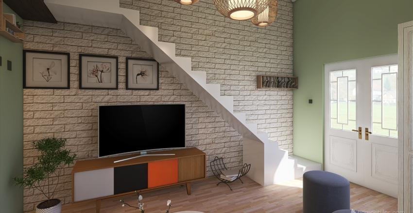 House on wheels Interior Design Render