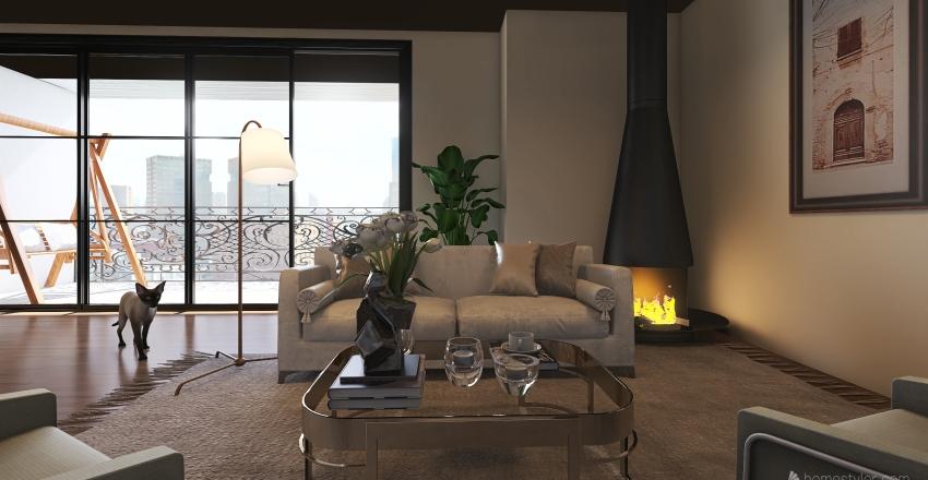 Buhardilla en París Interior Design Render