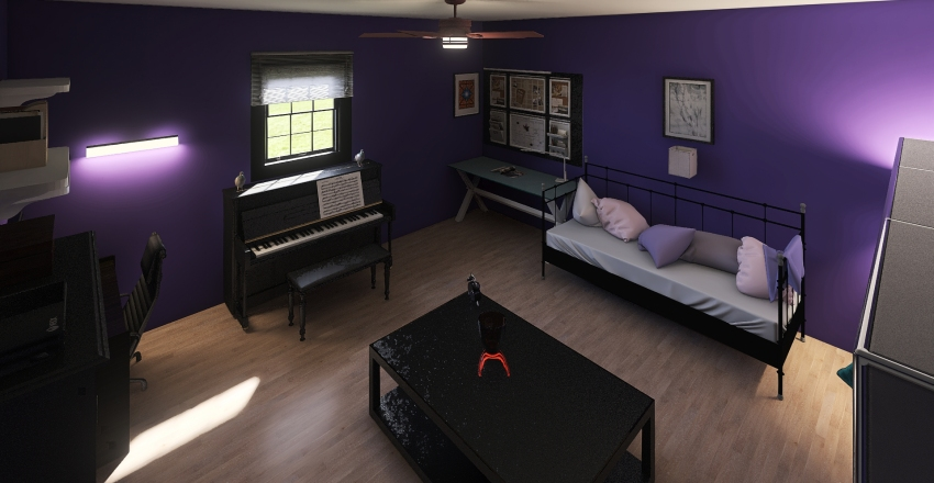 dad's bedroom Interior Design Render