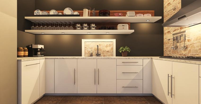 Singels home Interior Design Render